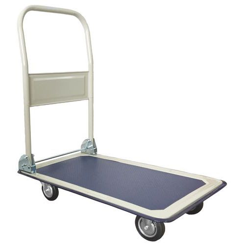 Carro com espaldar rebatível - Capacidade de 150 e 300 kg - Manutan