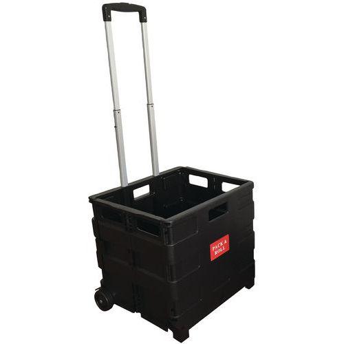 Carro-caixa dobrável – capacidade de 35 kg –Manutan