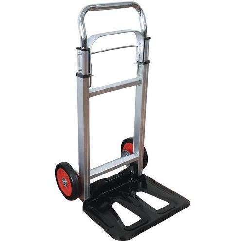 Porta-cargas em alumínio – Rodas em borracha – Capacidade de 90kg – Manutan