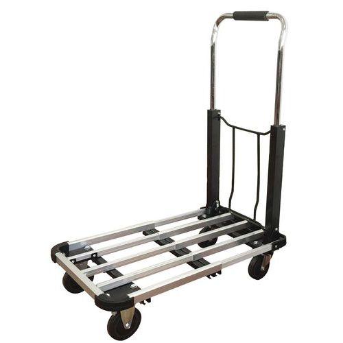 Carro dobrável com plataforma em alumínio - Capacidade de 150kg
