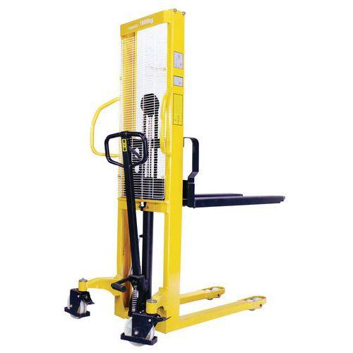 Empilhador hidráulico - Capacidade de 1000 kg - Manutan