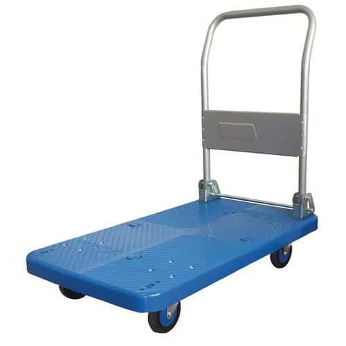 Carro em plástico com espaldar rebatível - Capacidade: 200 kg
