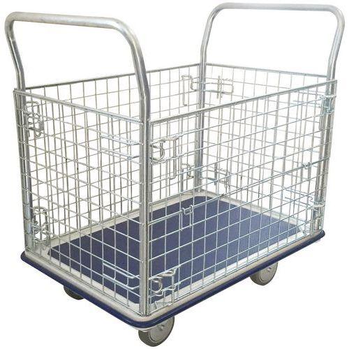 Carro gradeado - Capacidade de 300 kg - Manutan