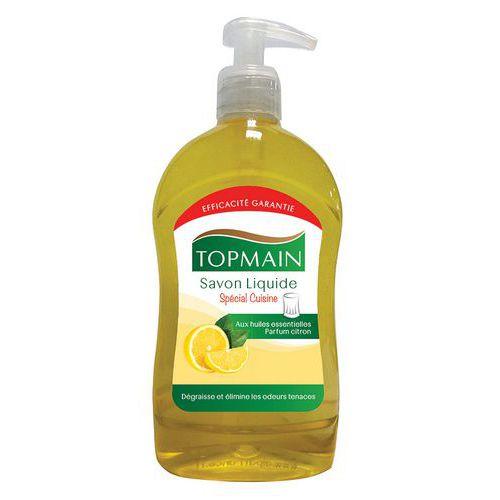 Sabão líquido para cozinha Topmain limão - Frasco com bomba de 500 ml