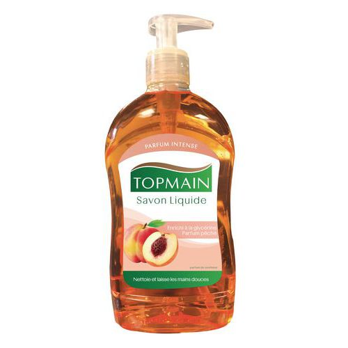 Sabão líquido Topmain - Frasco com bomba de 500 ml