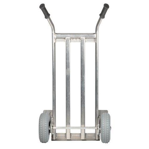 Porta-cargas em alumínio - Rodas antifuros - Capacidade de 350kg