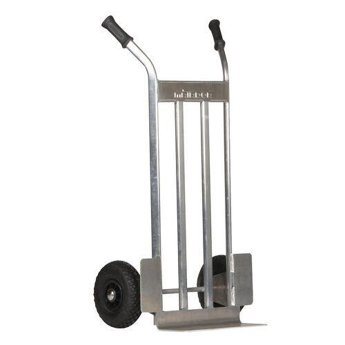 Porta-cargas em alumínio - Rodas pneumáticas - Capacidade de 350kg