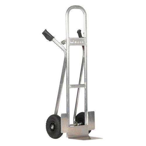 Porta-cargas em alumínio – Rodas pneumáticas – Capacidade de carga 350kg