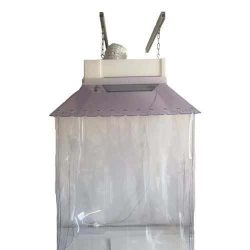 Exaustor suspenso com kit de lamelas em PVC