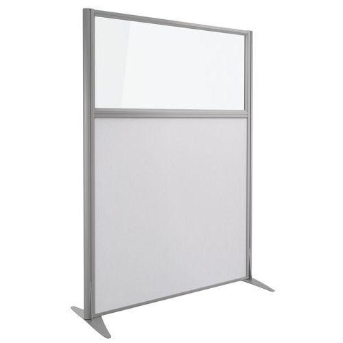 Divisória acústica Kprim - Têxtil e vidro - Altura: 165 cm