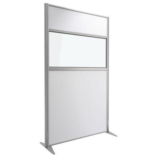 Divisória acústica Kprim - Têxtil e vidro - Altura: 200 cm