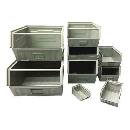Caixa de bico metálica - Modelo lacado, cor cinzento - Comprimento 500 a 700 mm