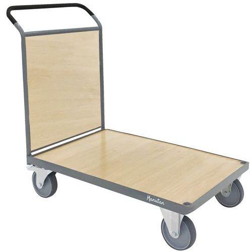 Carro com revestimento em madeira – 1 espaldar – Capacidade de carga de 500kg – Manutan