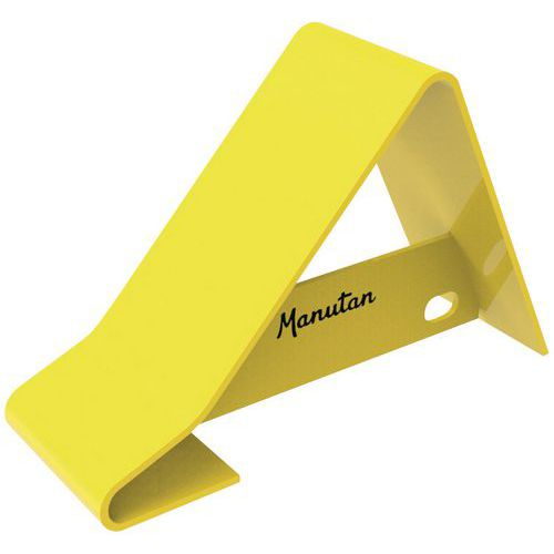 Calço de roda de camião em metal, amarelo - Manutan