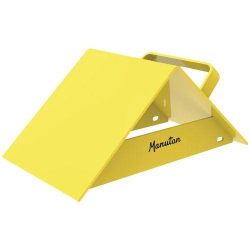 Calço de roda de camião em metal, amarelo, com pega - Manutan