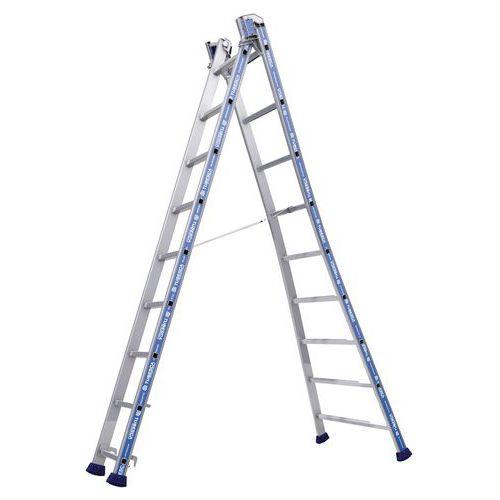 Escada transformável Platinium 300 Pro – 2 planos – Tubesca