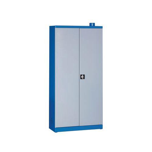 Armário de armazenamento para produtos perigosos com 6 prateleiras de retenção - 72 L
