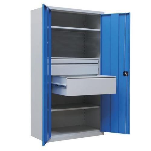Armário de oficina metálico – com gavetas