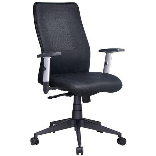 Cadeira de escritório com espaldar médio Penelope – tecido – Manutan