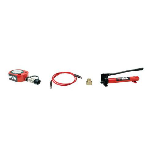 Kit de macaco hidráulico bobina 30T com bomba manual