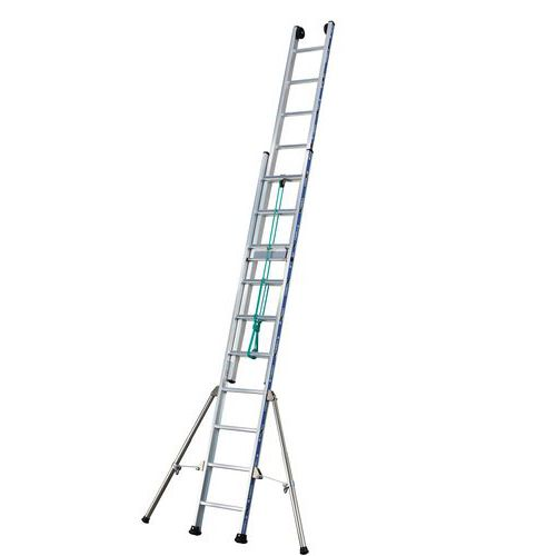 Escada extensível com corda Platinium 300 - 2 secções