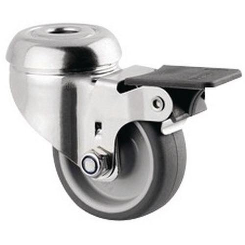 Rodízio giratório de olhal com travão – Capacidade de carga de 40kg