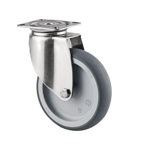 Rodízio giratório com placa – Capacidade de carga de 100kg