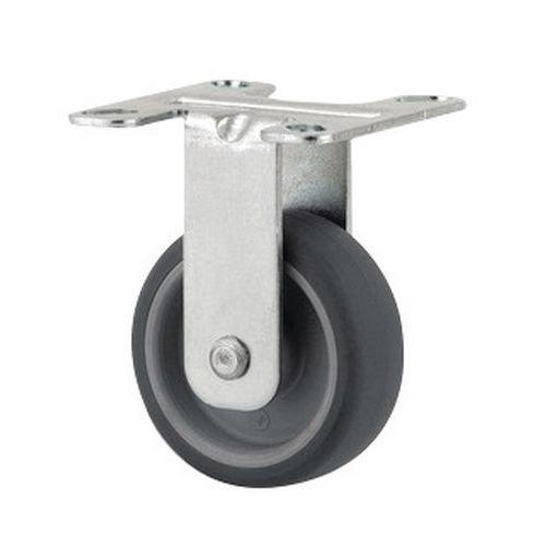 Rodízio fixo com placa – Capacidade de carga de 40kg