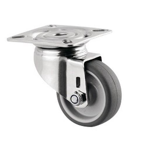 Rodízio giratório com placa – Capacidade de carga de 40kg