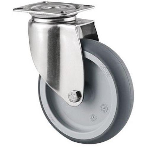 Rodízio giratório com placa – Capacidade de carga de 80kg