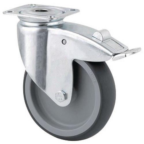 Rodízio giratório com placa – 75 kg
