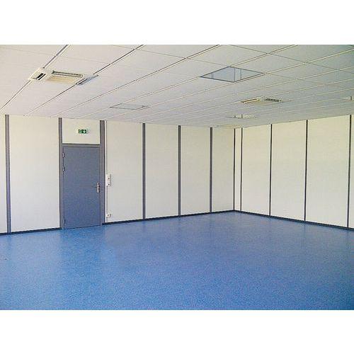 Divisória dupla parede em melamina - Painel integral - Altura 2.50 m