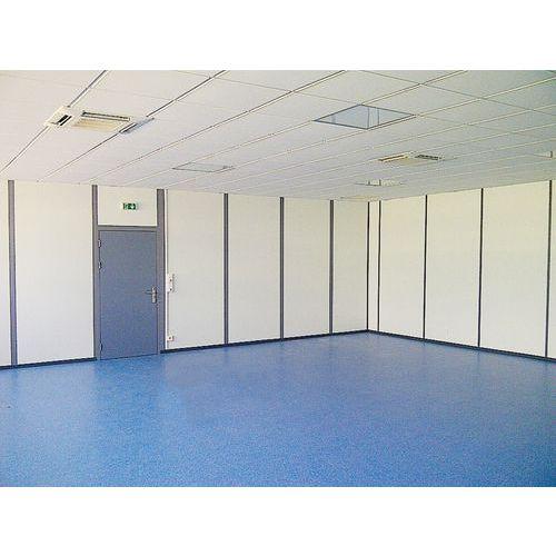 Divisória dupla parede em melamina - Painel integral - Altura 3 m
