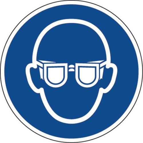 Painel de obrigação – Óculos de proteção obrigatórios – autocolante