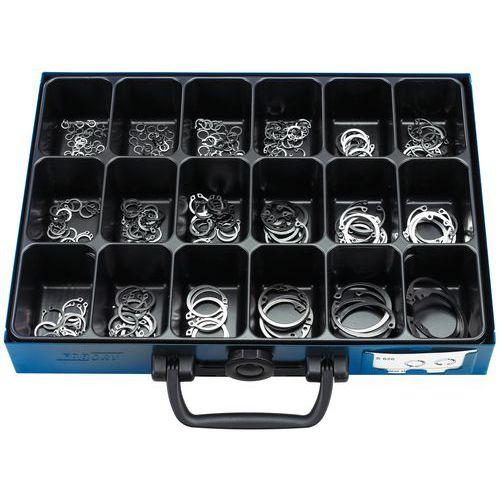 Caixa de anilhas de freio aço para eixos e cubos - 283 peças