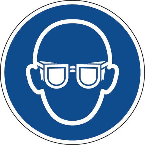 Painel de obrigação – Óculos de proteção obrigatórios – alumínio