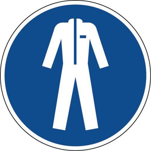 Painel de obrigação – Vestuário de proteção obrigatório – alumínio