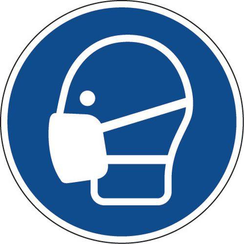 Painel de obrigação – Máscara obrigatória – autocolante