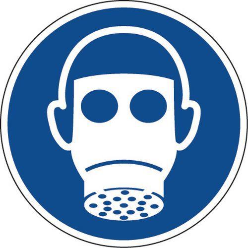Painel de obrigação – Proteção das vias respiratórias obrigatória – autocolante