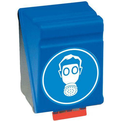 Caixa de arrumação de Equipamento de Proteção Individual Secubox - Formato grande máscara respiratória