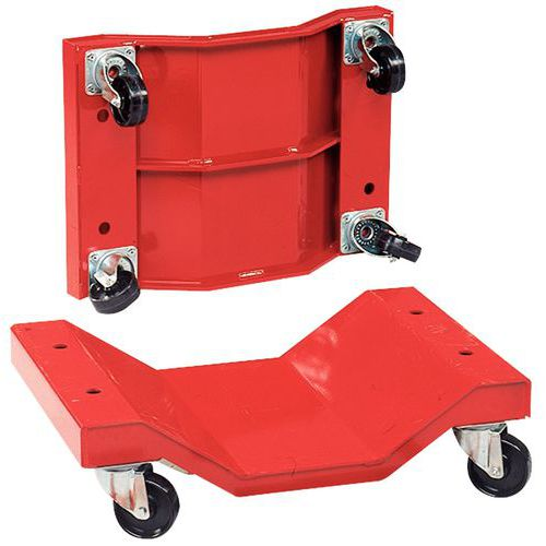 Conjunto de 2 bases rolantes para cargas compridas de 1000kg – Rodas em nylon