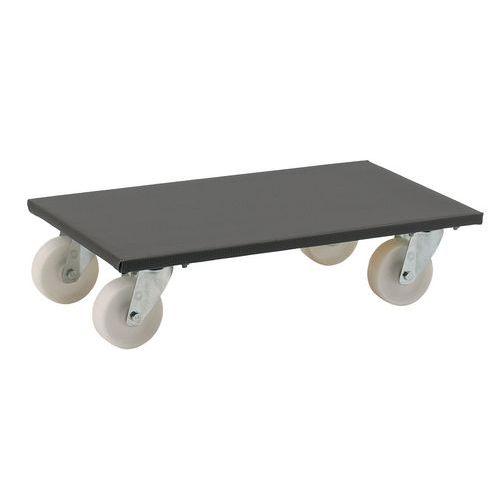 Plataforma móvel em madeira - Acabamento plástico - Capacidade 300 e 500 kg