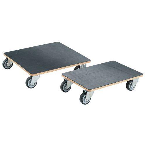 Plataforma móvel em madeira - Acabamento borracha - Capacidade 250 kg