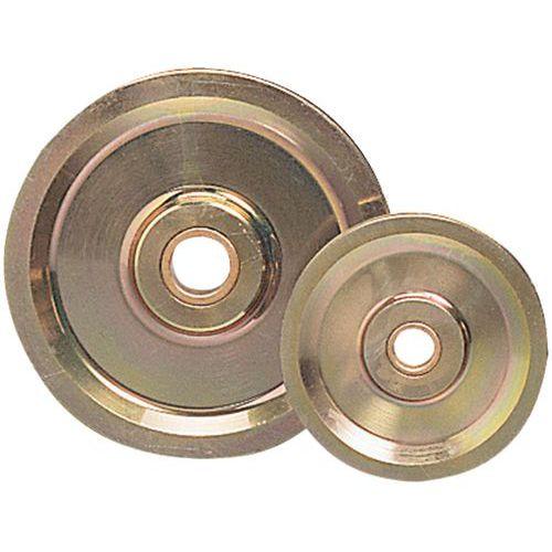 Roldana em aço para montagem em casquilho de bronze - Capacidade de 400 a 6000 kg