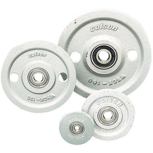 Roldana em ferro fundido e aço sobre rolamento de esferas - Capacidade de 85 a 550 kg