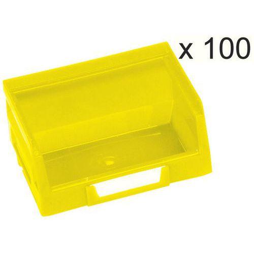 Conjunto de 100 caixas de bico Kangourou - Comprimento 103 mm - 0,4 L - Manutan
