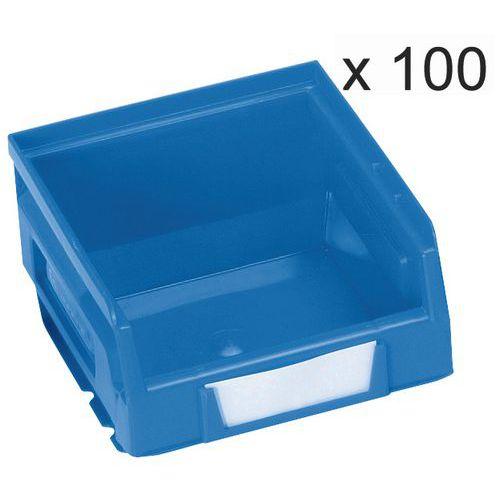Conjunto de 100 caixas de bico Kangourou - Comprimento de 103 mm - 0,7 L - Manutan