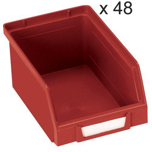 Conjunto de 48 caixas de bico Kangourou - Comprimento de 165 mm - 1 L - Manutan