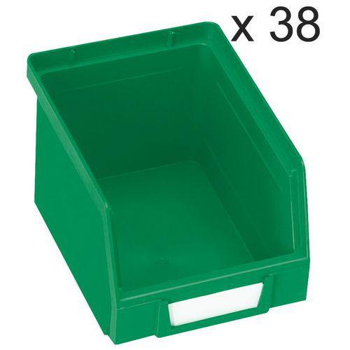 Conjunto de 38 caixas de bico Kangourou - Comprimento de 240 mm - 3,5 L - Manutan