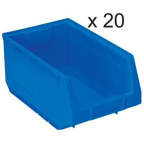 Conjunto de 20 caixas de bico Kangourou - Comprimento de 345 mm - 10 L - Manutan